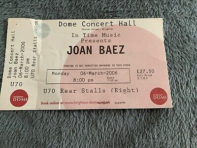 Joan Baez Concert Ticket Brighton Dome 2006  • 10£