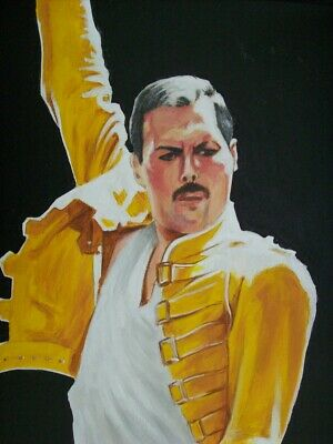 Freddie Mercury , Original Painting On Canvas.  • 39.99£