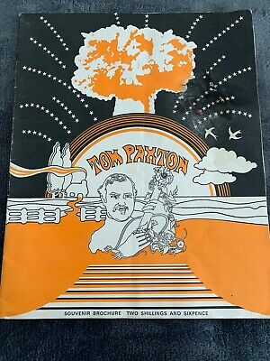 Tom Paxton Souvenir Brochure Uk Programme 1969 Tour • 12£