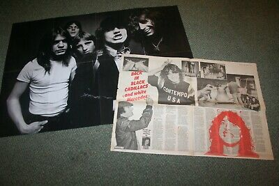 AC/DC Poster Rock Press Feature XTC 1980 Collection  • 10£