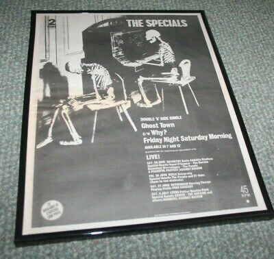 THE SPECIALS Ghost Town U.K. Tour Press Poster Framed • 20£