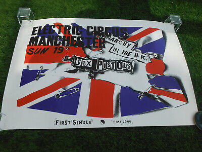 Sex Pistols  1976 Electric Circus Manchester Poster, 1980`s Reprint! • 5.50£