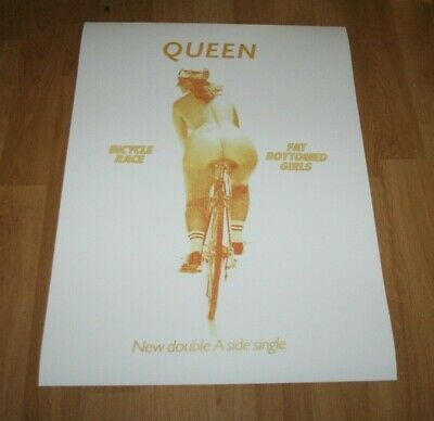 Queen Bicycle Race Fat Bottomed Girls Freddie Mercury Brian May Poster • 9£
