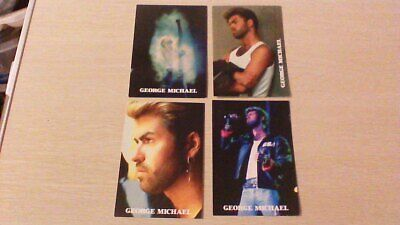 Collection Of 4 GEORGE MICHAEL Vintage Postcards Joblot WHAM     • 2£