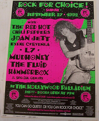 Hollywood Palladium Rock For Choice Red Hot Chili Peppers Loren Signed Poster • 63.84£
