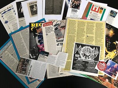 Def Leppard: (8) Articles & Cuttings  • 7.50£