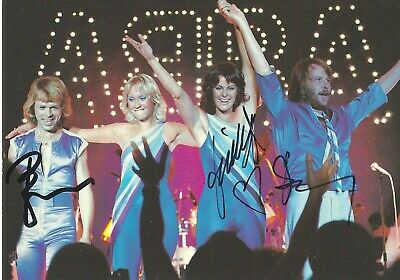 ABBA SIGNED GROUP X 3 POSTCARD  FRIDA BENNY BJORN  UACC & AFTAL RD AUTOGRAPH  • 179.99£