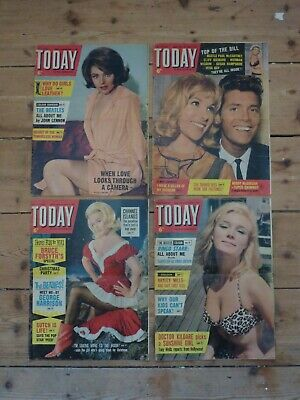 Beatles Original 1960s Magazines: 4 Editions Of Today From 1963 • 12£