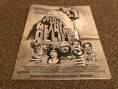 (rsmbk05) Advert 12x10  Monty Pyhon's The Meaning Of Life Movie John Cleese • 29.99£