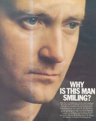(sfbk49) Poster Advert 26x11  Phil Collins : But Seriously • 26.99£