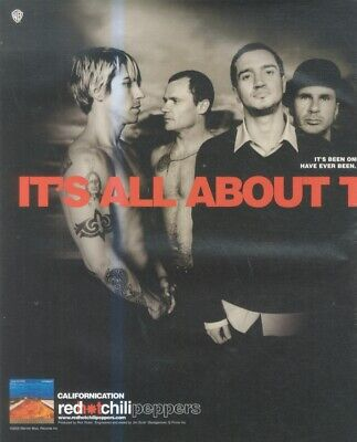 (hfbk4) Poster/advert 26x11  Red Hot Chili Peppers : Californication • 26.99£