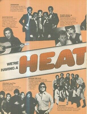 (sfbk37) Poster/advert 28x11  Rca And Associated Labels Heatwave, Whispers • 26.99£