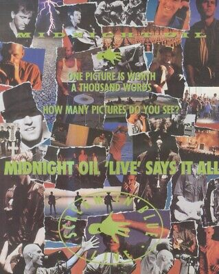 (sfbk70) Poster/advert 26x11  Midnigh Oil : Screamin In Blue Live 4 Pages • 26.99£