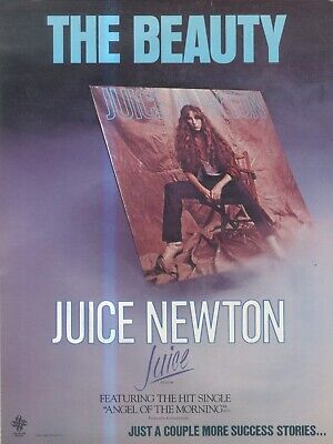 (sfbk17) Poster/advert 26x11  Juice Newton & April Wine On Capitol Records • 26£