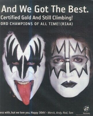 (hfbk4) Poster/advert 26x11  Congratulations Dave Grohl & Kiss On 30 Years • 26.99£