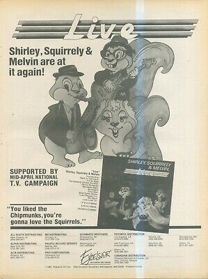 (sfbk39) Poster/ Advert 14x11  Shirley, Squirrely & Melvin Live Album • 26.99£