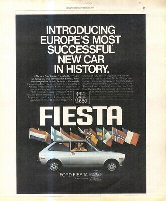 (rst20) Poster/advert 13x11  Ford Fiesta • 16.99£