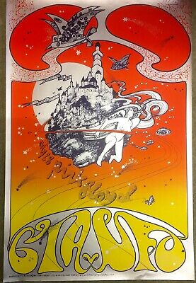 Pink Floyd Cia Ufo Hapshash Poster, Stunning Psychedelic Design, Look !! • 50£