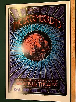 The Decemberists 2008 San Fransisco Gig Concert Poster By Dave Hunter Signed WOW • 55.56£