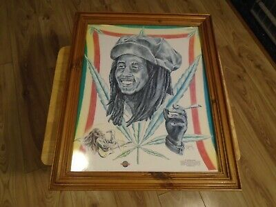 Bob Marley Framed Picture Heavy Duty Frame And Professionally Done • 20£