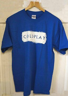COLDPLAY T-Shirt Rush Of Blood XL X-Large Blue Official Chris Martin Tee T Shirt • 12.99£