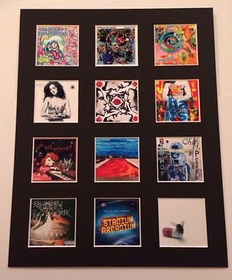 Red Hot Chili Peppers 14  By 11  Lp Covers Picture Mounted Ready To Frame • 15.99£