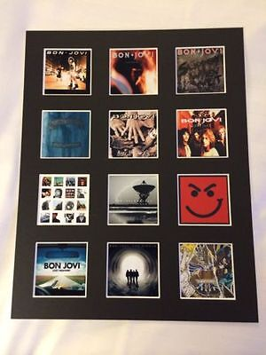 Bon Jovi 14  By 11  Lp Discography Covers Picture Mounted Ready To Frame • 15.99£
