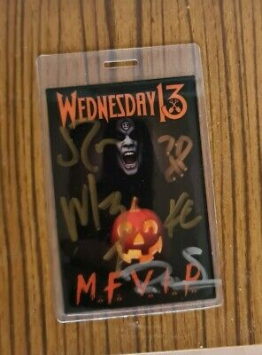 Wednesday 13 Band Signed VIP Pass • 8£