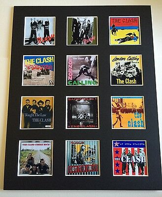 The Clash 14  By 11  Lp Covers Picture Mounted Ready To Frame • 15.99£