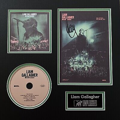 Liam Gallagher Hand Signed MTV Unplugged Card + CD In 14x14 Double Mount - Oasis • 199.99£