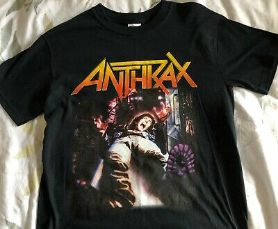 Anthrax - 'spreading The Disease' Official New Black Tour Shirt (size: Adult Sma • 5.99£