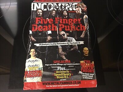 Five Finger Death Punch SIGNED Magazine Page  • 20£