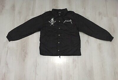 Metallica Rain Jacket Size Men's Small From Live By Request Shows Rare Coat • 29.99£