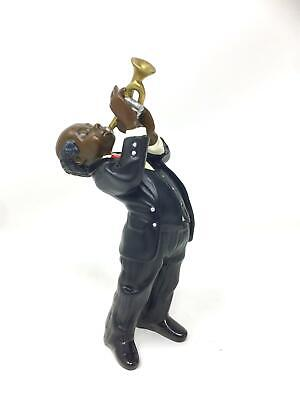 Trumpet Player Figurine Jazz Blues Musician Brass Horn Player Statue • 26.95£