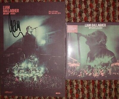 Liam Gallagher Signed MTV Unplugged A5 Card CD Hand Signed Oasis Noel Rare • 25£