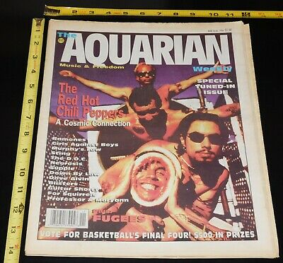THE RED HOT CHILI PEPPERS Ramones March 1996 Aquarian NJ Local Magazine • 15.63£