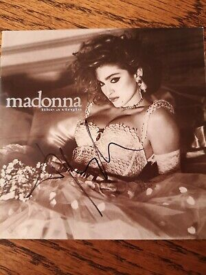 Madonna Signed Like A Virgin Cd Cover  • 149.99£