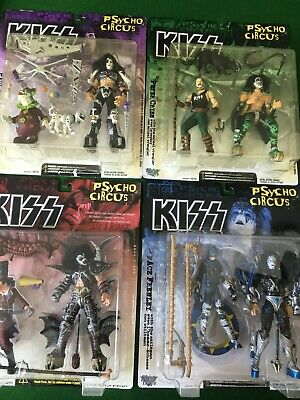 Psycho Circus Figures KISS Gene Ace Peter Paul Unopened McFarlane • 20£