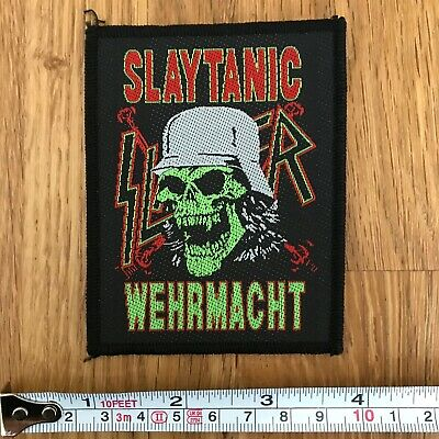 SLAYER Rare UK Slaytanic Embroidered Woven Sew On Patch • 7.50£