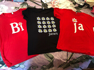 James The Band Tim Booth Genuine Tour T-shirts X3 Ladies XL Hardly Worn • 25£