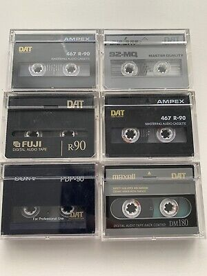 6 X Various Manufacturers DAT Tapes Used (2) • 9.99£
