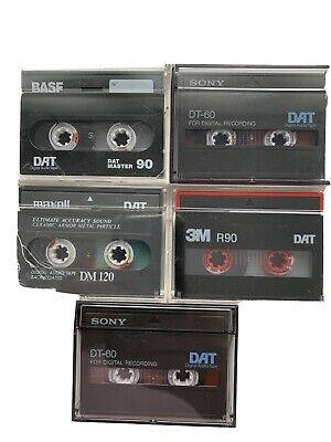 5 X Various Manufacturers DAT Tapes Used (3) • 6.99£