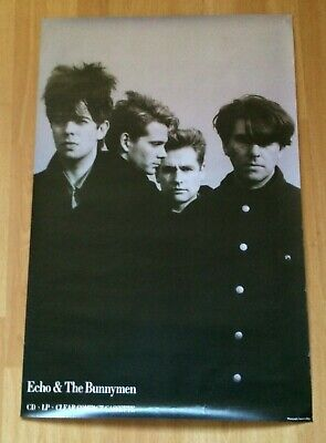 Echo & The Bunnymen Echo & The Bunnymen Original UK PROMO Poster 1987 • 25£
