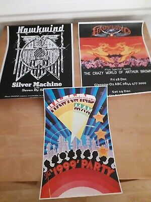Hawkwind Posters X 3 • 3.20£