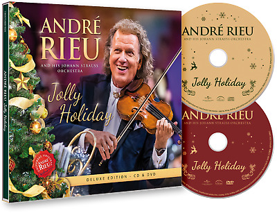 ANDRE RIEU JOLLY HOLIDAY  Deluxe Edition CD & Bonus DVD Maastricht Christmas • 14.97£