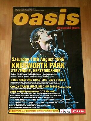 OASIS Knebworth Promo Fly Poster 60  X 40  Inches Original (Liam) 1996 • 50£