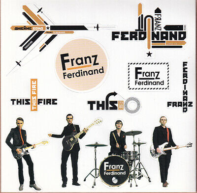 Franz Ferdinand Self Titled / This Fire RARE Promo Sticker Sheet (11 In 1) 1997 • 4.75£