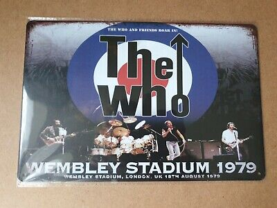 The Who Union Jack Vintage Style Metal Sign Plaque Poster British Rock Retro • 6.90£