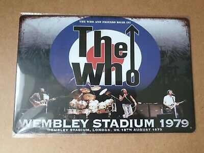 The Who Wembley Metal Sign Plaque Poster British Rock Retro • 7£