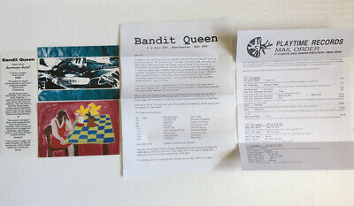 Bandit Queen 2 Promo Postcards (1 Signed) Decal News Letter 1990's UK Indie Rock • 15£